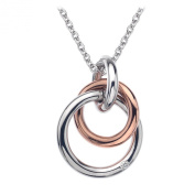 Hot Diamonds 18ct Rose Gold Vermeil Eternity Interlocking Pendant of 41 cm + extender 5 cm