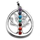 Tree of Life Chakra Stone Pendant