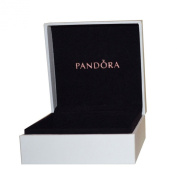 Pandora Original Black Interior Jewellery Gift Box - 9cm x 9cm x 4cm