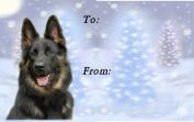 German Shepherd Dog / Alsatian No. 5. Christmas Labels (42) - Self Adhesive