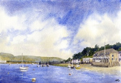Yachts at Rock, Cornwall are prints from a watercolour painting by Alex Pointer