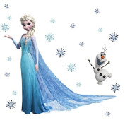Queen Elisa & Olaf Wall Decals