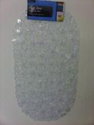 Clear Transparent Anti Non Slip PVC Safety Shower Bath Suction Mat Pebble