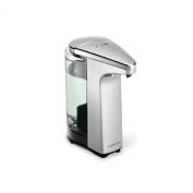 simplehuman compact touch-free sensor soap pump, automatic liquid dispenser, brushed nickel, 2 year guarantee