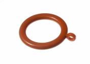 PLASTIC CURTAIN MEDIUM BROWN ROD POLE RINGS 37MM ID 50MM OD PACK OF 6