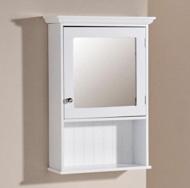 Bathroom Mirror New Zealand bathroom mirror cabinet white 1 door storage cupboard over sink