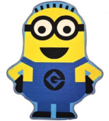 Official Despicable Me Minion Shaped Rug Bedroom Floor Mat 80 x 100 cm, Blue & Yellow