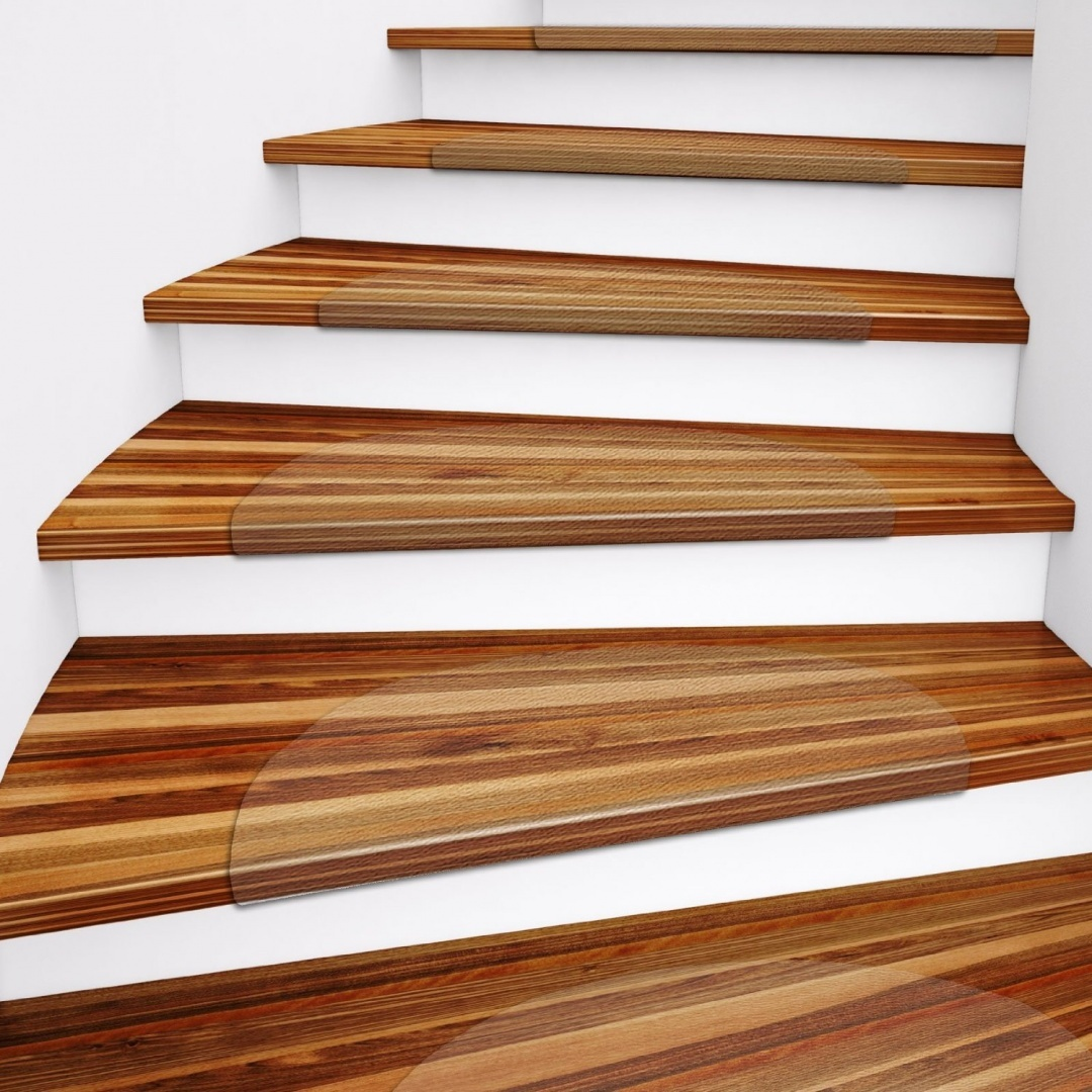 Casa Pura Clear Polycarbonate Stair Treads For Hard Floors