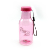 350ML Soda Bottle Leak-proof Unbreakable Travel Cycling Water Cup Pink