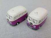 NEW VW Camper Van Salt and Pepper Pots - Purple