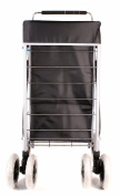 ST-SIX-01 Black 6 Wheeled Large Shopping Trolley with Adjustable Handle