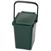 10 Litre Urba Kitchen Food Waste Caddy - Moss Green