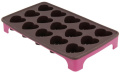 Metaltex Flexible Silicone Chocolate Heart Shape Mould Tray, Brown