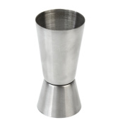 Stainless Steel Jigger Double Shot Drink Measure Cup Cocktail Wine Bar Party