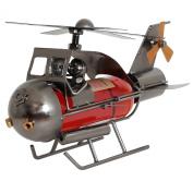 BRUBAKER Wine Bottle Holder Couple in Helicopter