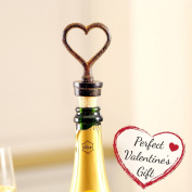 Cast Iron Heart Bottle Stopper H11cm - 6th Wedding Anniversary Gift Idea