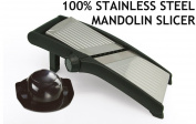 PROFESSIONAL PURE STAINLESS STEEL MANDOLIN SLICER. VEGETABLE SLICER CHEESE SLICER JULIENNE SLICING VEGETABLE FRUIT SALAD MANDOLIN SLICER