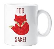 For Fox Sake Mug Funny Gift Cup Ceramic Novelty
