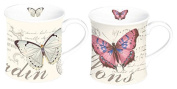 Stow Green Gift Boxed Set of 2 Butterfly Mugs