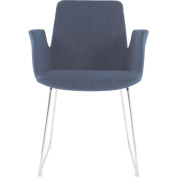 Moes Home Collection Moes Home Collection Clara Arm Chair -, Blue, Polyester & Steel