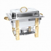CHAFER 3.8l GOLD ACCENTED STAINLESS STEEL CHAFER FOR BANQUETS BUFFET