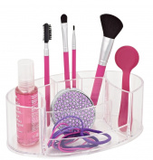 Danielle Acrylic Oval Cosmetics Organiser, Clear