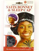 Donna Premium Collection Reversible Satin Bonnet & Sleep Cap - Black