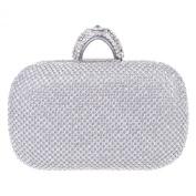 Fawziya Arched Clasp Rhinestone Clutch Purse Bling Crystal Evening Clutch Bags