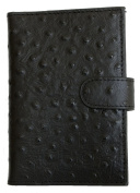 Women's Black Genuine Leather Passport Holder Kristy.X