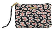 Amira Quilted Cotton Wristlet Pouch Wallet on a String