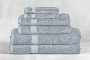 Bamboo Towel Set - Pewter - 6 Piece Set - Available in 20 Colours