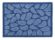 Kate Nelligan Mussels Hook Rug, 90cm by 120cm , Blue