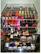 Acrylic Makeup Organiser Nail Organiser Beauty Case With Drawers