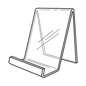 3 Pcs. Clear Acrylic Easel With 7.6cm Opening - 14cm x 15cm H - Great For Display Books & Thick Boxes
