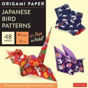 "Origami Paper - Japanese Bird Patterns - 8 1/4"" - 48 Sheets"