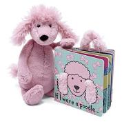 Jellycat Board Books, If I Were a Poodle Book - 15cm