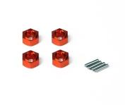 Helion Animus Aluminium Wheel Hexes, Orange