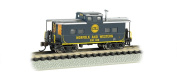 Bachmann Industries #500 836 Northeast Steel Caboose Norfolk and Western Blue Train Car, N Scale