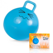 Deluxe Hopping Ball for Kids, Teenagers and Adults, Offers Hours of Incredible Fun for Boys and Girls, Amazing Space Hopper Ball, Safe and Durable Jumping Ball with Handle, 60cm Diameter