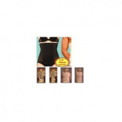Black Unisex Body Shaper S Cincher Tummy Corset Slimming Girdle Waist Belt Wrap Trimmer Fitness