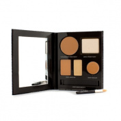 The Flawless Face Book - # Tan (1x Creme Compact, 1x Pressed Powder w/ sponge, 1x Secret Camouflage...), 5pcs