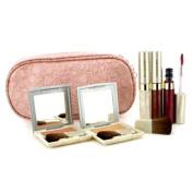Cheek & Lip Makeup Set With Pink Cosmetic Bag (2xCheek Color, 3xMode Gloss, 1xBrush, 1xCosmetic Bag), 6pcs+1bag