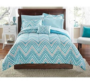 Mainstays Watercolour Chevron Bed in a Bag Coordinated Bedding Set - FULL