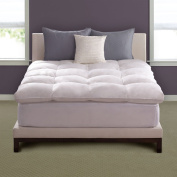 Hotel Deluxe Luxe LoftTM Baffle Box King Size Feather Bed with Soft Cotton and Zippered Closure Protector - 5 Star Hotel Luxury Comfort and Restful Sleep at Your Own Home!