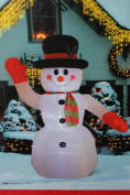 2.4m Airblown Inflatable Lighted Snowman