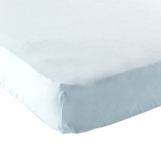 Fitted Bassinet Sheet in Classic Blue Print