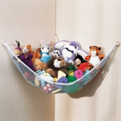 Dozenegg Stuffed Animal & Toy Organiser Hammock Pet Net, White Net and Trim