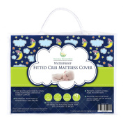 Crib Mattress Pad - Waterproof Fitted Cover for Cribs & Toddler Beds - Save $10 When Buying 2 or More - Superior Quality Protector with Silky Soft Quilted Topper - PVC-Free - Nursery Necessities - Use for Baby Bedding, Place Over Fitted Crib Sheet