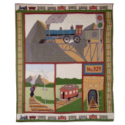 Patch Magic 90cm by 120cm Train Quilt Crib