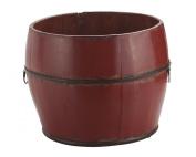 Antique Revival Vintage Benton Bucket, Red